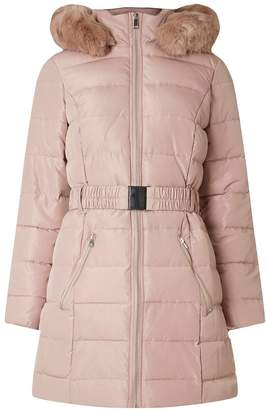 Dorothy Perkins Womens Blush Luxe Belted Padded Coat