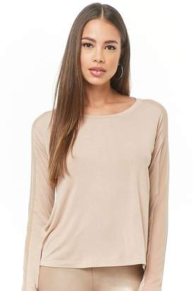 Forever 21 Active Mesh Long-Sleeve Top