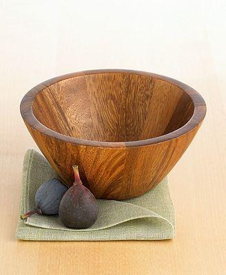 The Cellar Acacia Wood Round Nappy Bowl