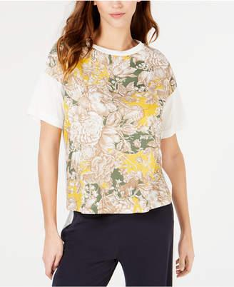 Max Mara Floral-Print Cotton T-Shirt