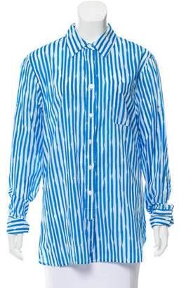 Ellen Tracy Stripe Button-Up Top