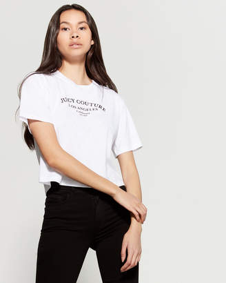 Juicy Couture Logo Cropped Tee