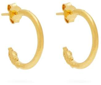 Alighieri - Il Leone Small Gold Plated Hoop Earrings - Womens - Gold