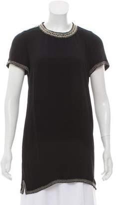 Isabel Marant Embellished Short Sleeve Tunic