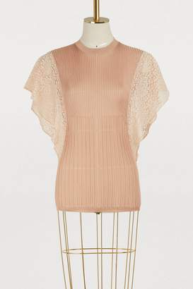 Chloé Lace sleeves top