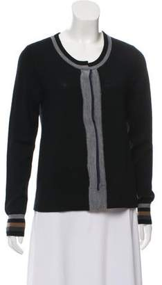L'Agence Wool Colorblock Cardigan