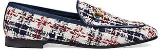 Gucci Women's Checked Tweed Loafers - White