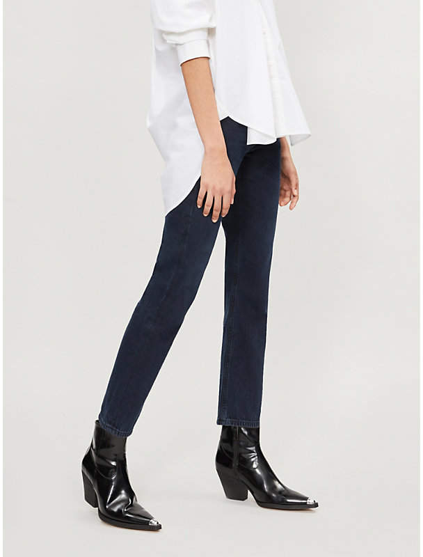 AGOLDE Cigarette straight mid-rise jeans