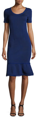 St. John Collection Milano Knit Scoop Neck Dress $995 thestylecure.com