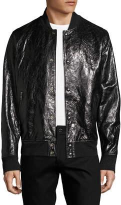 Diesel Black Gold Men's Larbirbo Leather Bomber Jacket