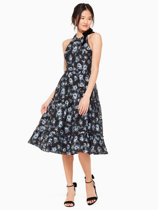 Kate Spade prairie rose velvet tie dress