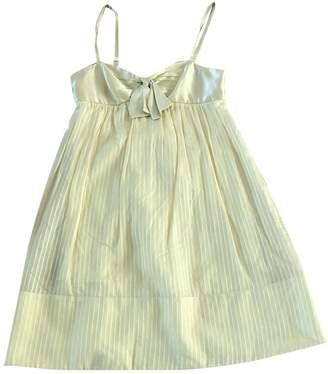 BCBGMAXAZRIA Yellow Cotton Dress for Women