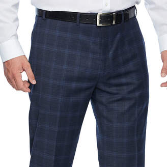 COLLECTION Collection by Michael Strahan Blue Plaid Classic Fit Stretch Suit Pants - Big and Tall