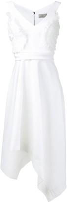 Preen by Thornton Bregazzi ruffle appliquée asymmetric dress