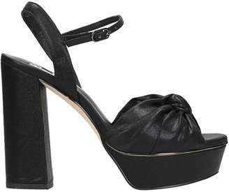 Bibi Lou Knot Black Leather Sandals