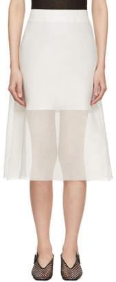 Yang Li Off-White Midi Skirt