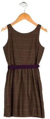 Polo Ralph Lauren Girls' Houndstooth Sleeveless Dress