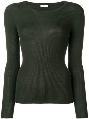 P.A.R.O.S.H. ribbed slim fit jumper