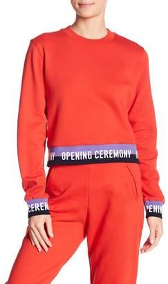 Opening Ceremony Elastic Logo Cropped Sweatshirt
