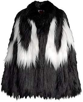 House of Fluff House of Fluff Women's Convertible Cape Faux Fur Jacket
