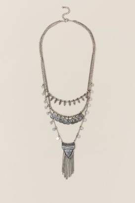 francesca's Sahara Layered Necklace - Silver