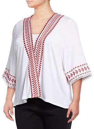 Style&Co. STYLE & CO. Plus Plus Embroidered Kimono