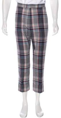 Thom Browne Plaid Cuffed Pants