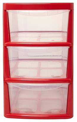 Thumbs Up Red 3 Drawer Storage Unit