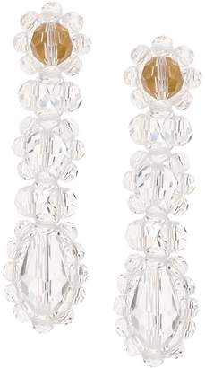 Simone Rocha triple drop earrings