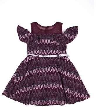 Nannette Flamestich Lace Cold Shoulder Dress (Little Girls)