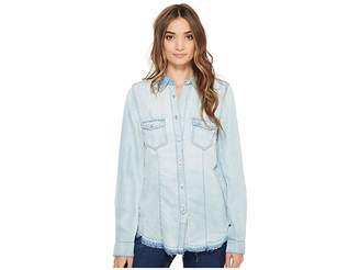 Blank NYC Denim Shirt in Rehab Run Women's Clothing