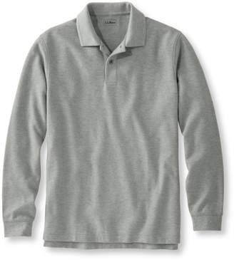L.L. Bean L.L.Bean Men's Premium Double LA Polo, Long-Sleeve Without Pocket