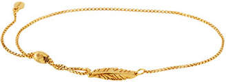 Alex and Ani Feather Pull-Chain Bracelet, Gold Vermeil