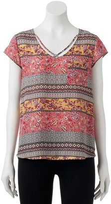 Juniors' Pink Republic Floral Strappy Tee $30 thestylecure.com