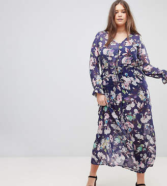 Brave Soul Plus Saskia Cover Up Sheer Maxi Dress