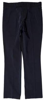 Marni Flat Front Plaid Pants