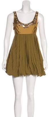 Chloé Embellished Mini Dress