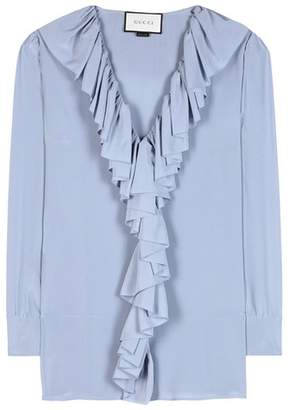 Gucci Ruffled silk blouse