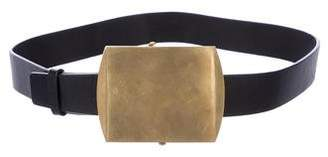 Calvin Klein Collection Leather Oversize Buckle Belt