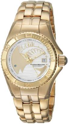 Technomarine Women's 'Cruise' Quartz Stainless Steel Casual Watch, Color:Gold-Toned (Model: TM-115200)