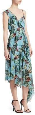 Nicholas Mayflower One-Shoulder Ruffle Dress