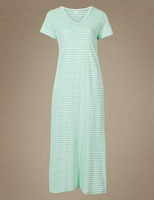 Marks and Spencer Modal Blend Striped Nightdress