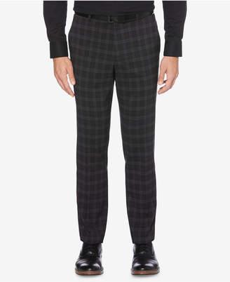 Perry Ellis Men's Portfolio Slim-Fit Stretch Medium Windowpane Plaid Dress Pants