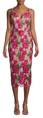 Xscape Evenings Floral Lace Sheath Dress
