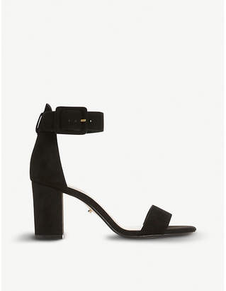Dune Mirror suede heeled sandals