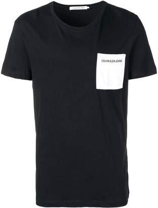 Calvin Klein Jeans contrast pocket T-shirt