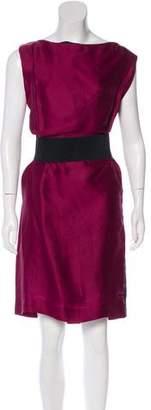 Lanvin Belted Knee-Length Dress