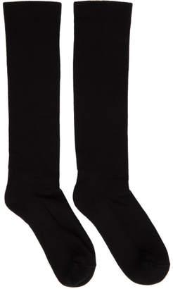 Rick Owens Black Sisyphus Mid-Calf Socks