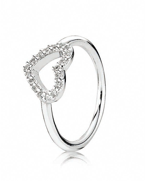 Pandora Ring - Sterling Silver & Cubic Zirconia Be My Valentine