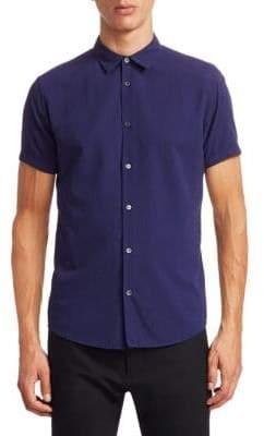 Emporio Armani Neat Short Sleeve Button-Down Shirt